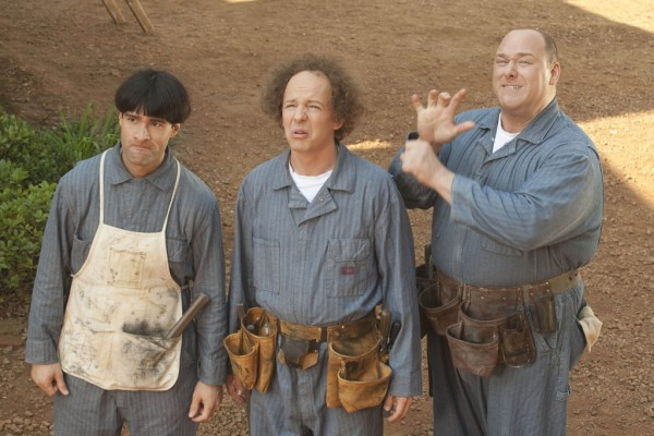 Will Sasso, Chris Diamantopoulos, and Sean Hayes in 'The Three Stooges'