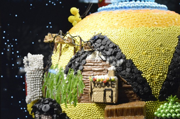Close up of candy window