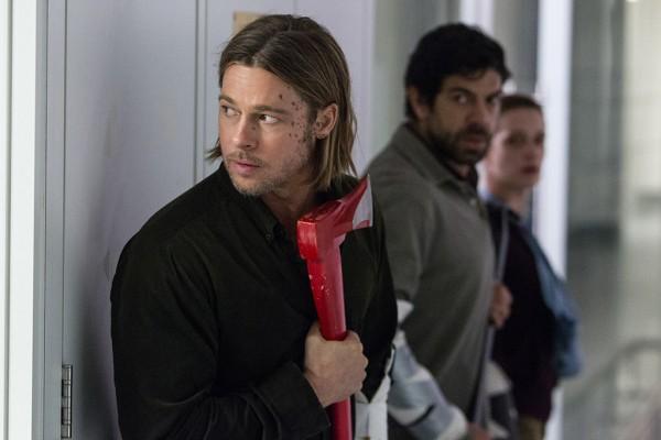"Brad Pitt, front, as Gerry Lane in ""World War Z"""