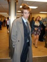 A fan dressed up as The Doctor