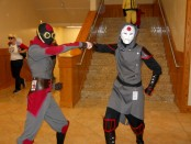 Fans dressed up as Amon and his lieutenant from Avatar The Legend of Korra