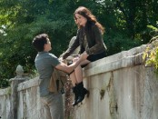 A still from Beautiful Creatures featuring Alice Englert and Alden Ehrenreich.