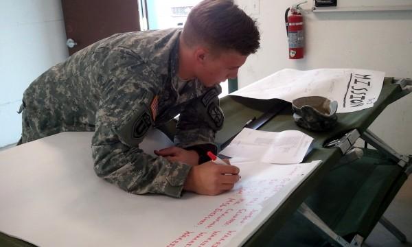 Cadet Menzie at Headquarters