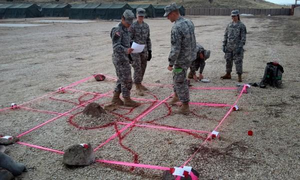 Cadets building a terrain model