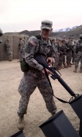 Cadet Smith clears a weapon