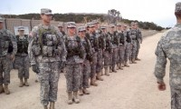 Cadets stand in formation