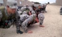 Cadets doing push-ups