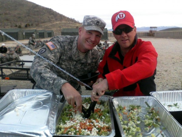 MSgt. Evershed (left) and Sgt. Crawford
