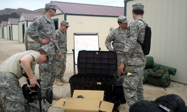 ROTC cadets finish packing