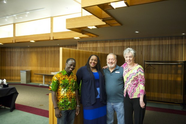 Dr. Abio Ayeliya (left), Glory Johnson-Stanton (2nd from left) and Jill Kemerer (right)