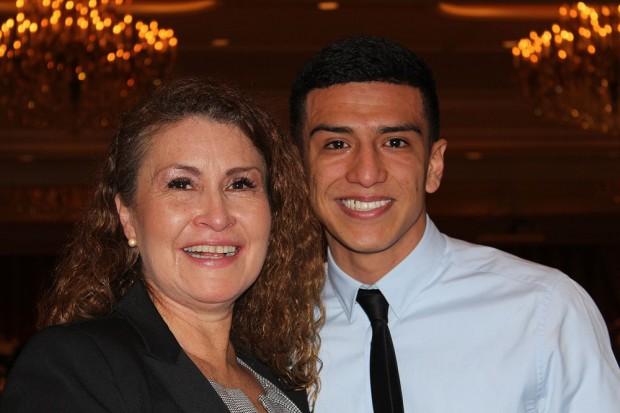 Alain Villa, right,and mother Magdaleno Villegas