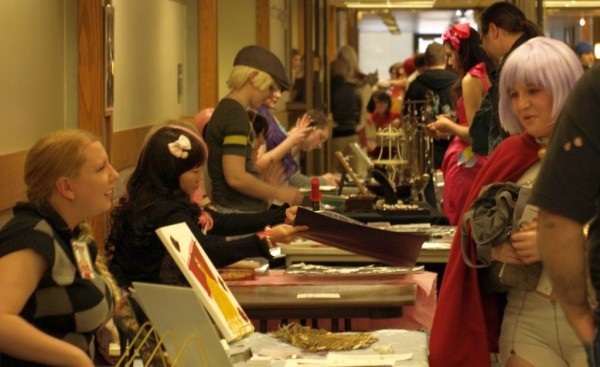 Fans browse the offerings of many vendors at Anime Salt Lake last year.