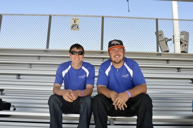 Ricky Callahan, left, and Mason Becker