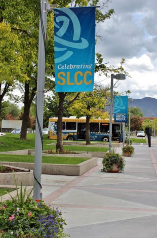 View from South City Campus East Entrance
