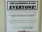 Gender Neutral sign posted on SCC Restrooms