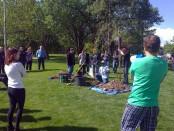 Tree planting event at Redwood