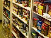 Overflowing food pantry