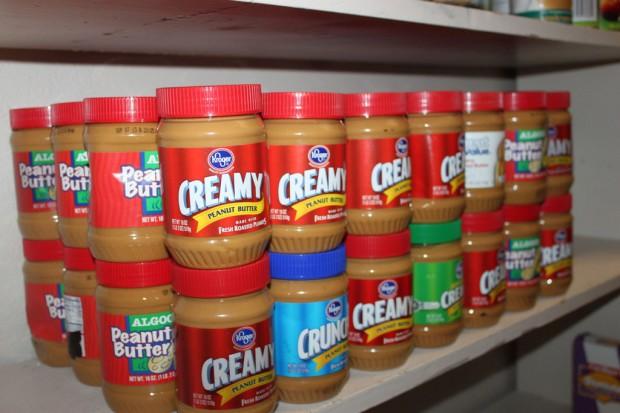 Jars of peanut butter