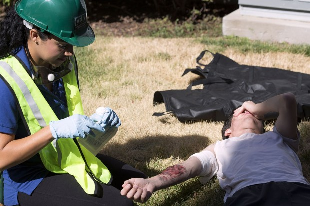 CERT member renders aid in simulation