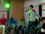 Hypnotist Chris Jones at work