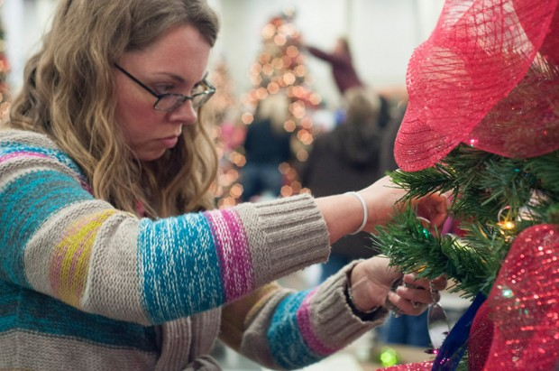 Festival of Trees volunteer