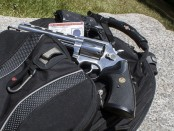 Backpack with concealed carry weapon.