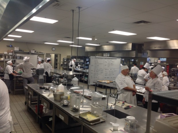 One of the large kitchens used by the students of the Culinary Arts Program.