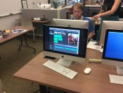 Student learns to use iMovie
