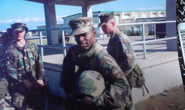 Damien Holmes from when he was deployed in Iraq