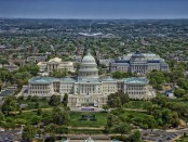 Aerial view of Washington D.C.