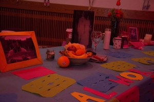 One of the many alters on display for the Dia De Los Muertos event.