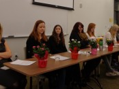 Lisa Cuestas, Kelsey Brown, Sarah Atherton, Jamie Galloway, Shanae Schouten, Angela Hamilton and Kim Bird at the SLCC.