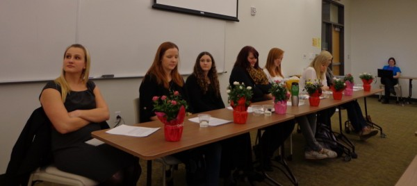 Lisa Cuestas, Kelsey Brown, Sarah Atherton, Jamie Galloway, Shanae Schouten, Angela Hamilton and Kim Bird at the SLCC.