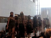 The final models' walk at the Fashion's Night Out show.