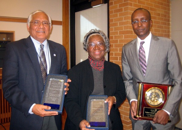 Dr. Harold Chuck Foster, Millie Sparks Martin Luther King Humanitarian Award winners and Dr. Anthony Farley 2012 Martin Luther King Human Rights Distinguished Speaker