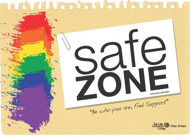 "Safe Zone - ""Be who you are, find support"""