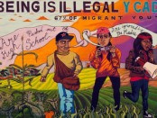 """No Human Being is Illegal"" mural"