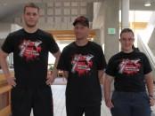 Martial Arts Club VP Wayne Gold (left), President Shane Green (center), and member Lauren Rowell (right)