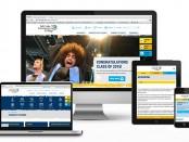 Website mockup on mobile devices