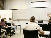 Older students in classroom