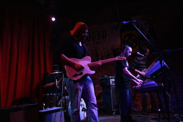 The Hemptations on stage