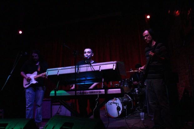 The Hemptations perform on stage
