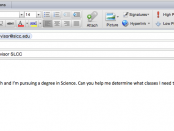 Example email with online advising