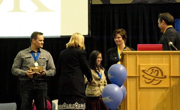 PTK faculty advisers award and honor student leaders for the 2011-2012 year