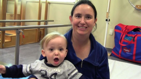 Suzanne Ivie brings her son Zebulon to Jordan Campus for occupational therapy.