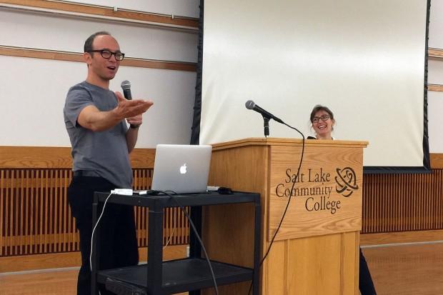 David Kestenbaum, left, and Stacy Vanek Smith