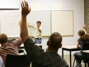 Instructor calls on students in class