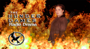 Promotional poster for the radio drama version of The Hunger Games
