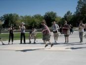 Nick Bowman dancing