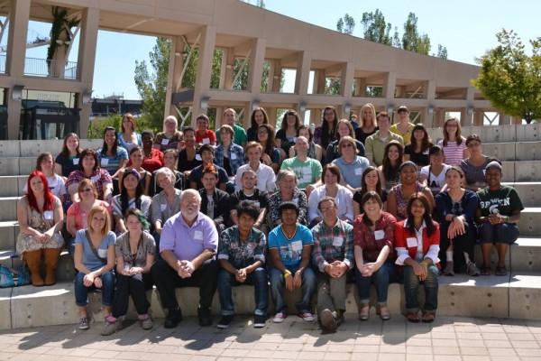 Members of the Salt Lake Teens Write and mentors.